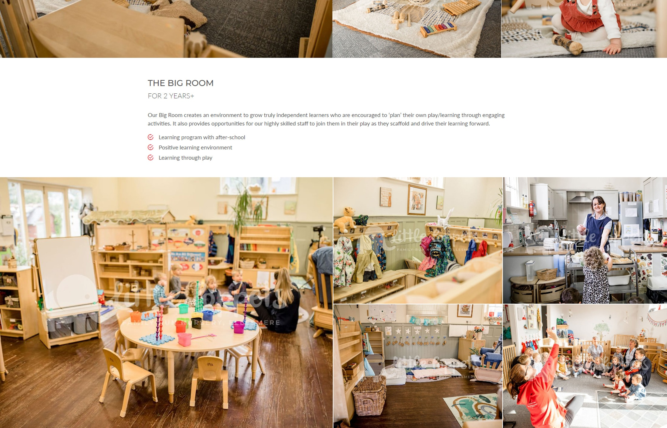 little poppets nursery website facilities