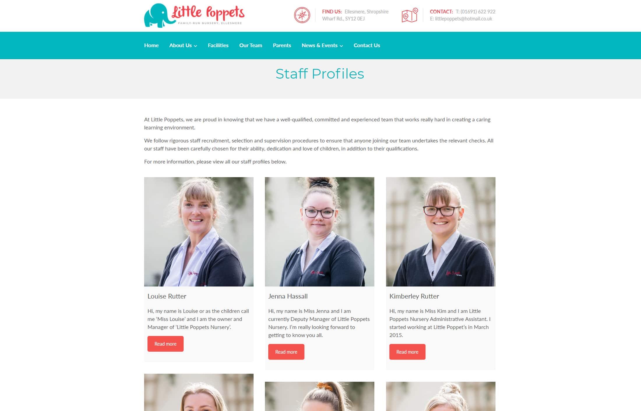 little poppets nursery website staff