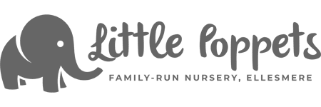 Little Poppets Nursery Logo. A business based in Ellesmere, Shropshire.